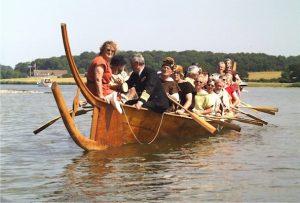 Hjortspringbåden med HKH Prins Henrik